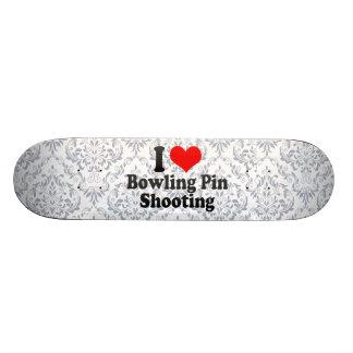 I love Bowling Pin Shooting Skateboard Decks