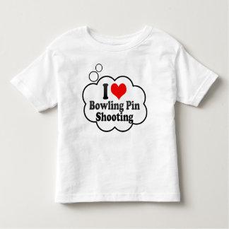 I love Bowling Pin Shooting T-shirts