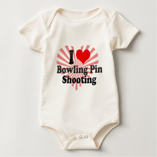 I love Bowling Pin Shooting Baby Bodysuit