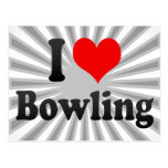 I love Bowling Post Card