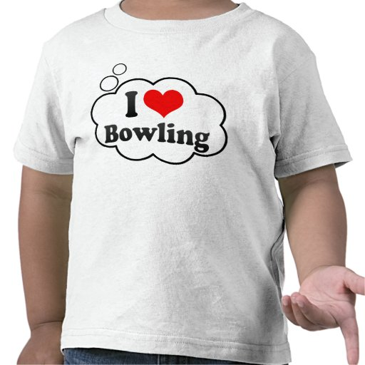 I love Bowling Tee Shirt