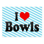 I love Bowls Postcard