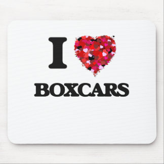 I Love Boxcars Mouse Pad