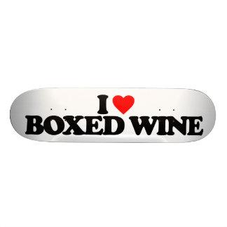 I LOVE BOXED WINE 21.6 CM SKATEBOARD DECK