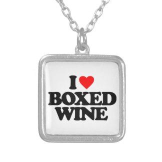 I LOVE BOXED WINE PENDANT