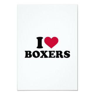 I love Boxers 3.5x5 Paper Invitation Card