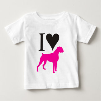 I Love Boxers Baby T-Shirt