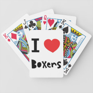 I love Boxers Bicycle Playing Cards