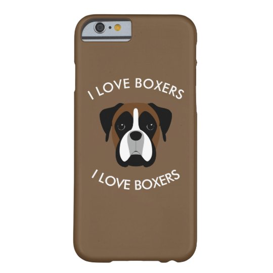 I Love Boxers Dog Theme Barely There iPhone