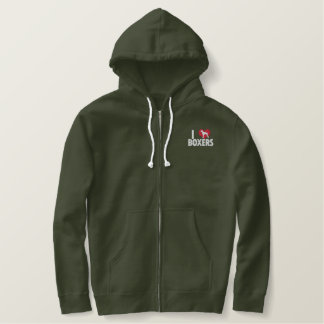 I Love Boxers Embroidered Hoodie