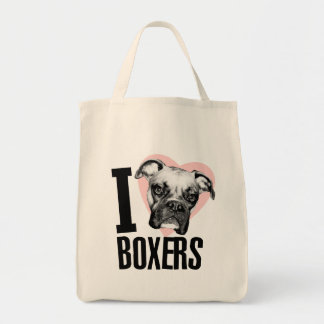I Love Boxers Grocery Tote