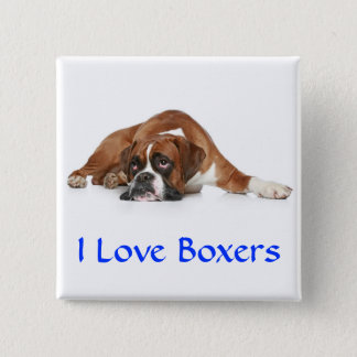 I Love Boxers Pin