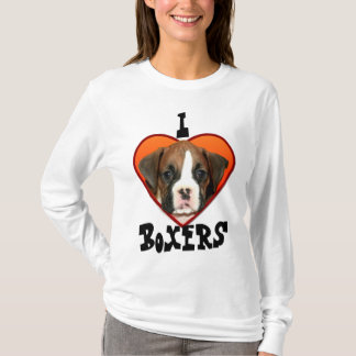I Love Boxers puppy long sleeved shirt
