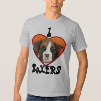 I Love Boxers puppy t-shirt