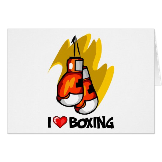 I Love Boxing Card