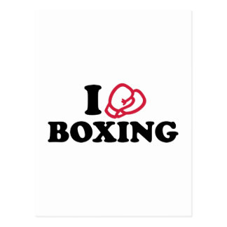 I love boxing gloves post card