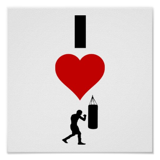 I Love Boxing (Vertical) Posters