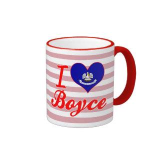 I Love Boyce, Louisiana Ringer Mug