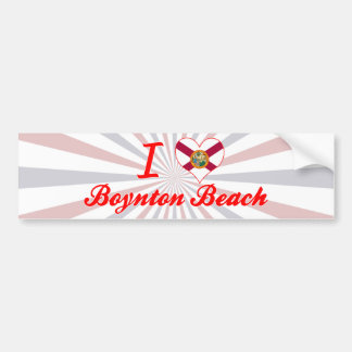 I Love Boynton Beach, Florida Bumper Stickers