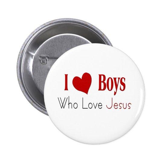 I Love Boys 6 Cm Round Badge