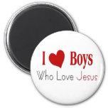 I Love Boys Fridge Magnets