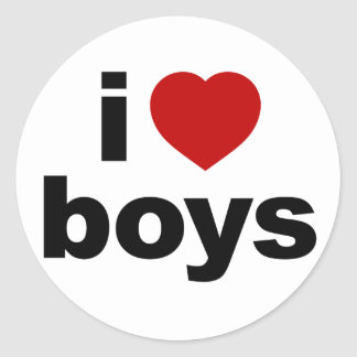 I Love Boys Sticker