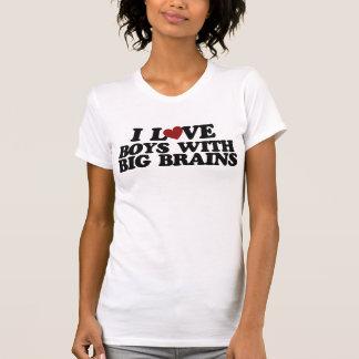 I love boys with big brains shirt