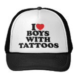 I Love Boys With Tattoos Mesh Hats