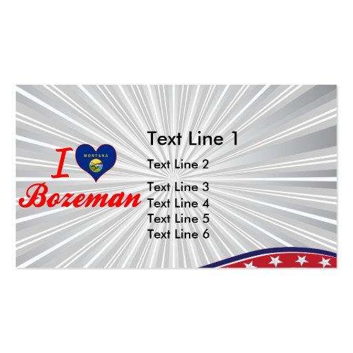 I Love Bozeman, Montana Business Card Template