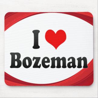 I Love Bozeman United States Mouse Pads
