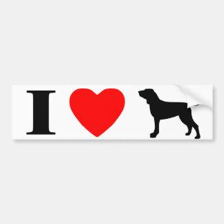 I Love Bracchi Italiani Bumper Sticker