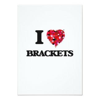 I Love Brackets 13 Cm X 18 Cm Invitation Card