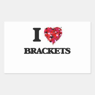 I Love Brackets Rectangular Sticker