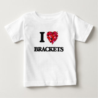 I Love Brackets T-shirts