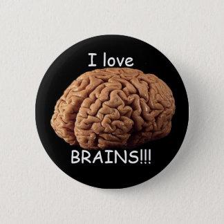 I love BRAINS!!! 6 Cm Round Badge