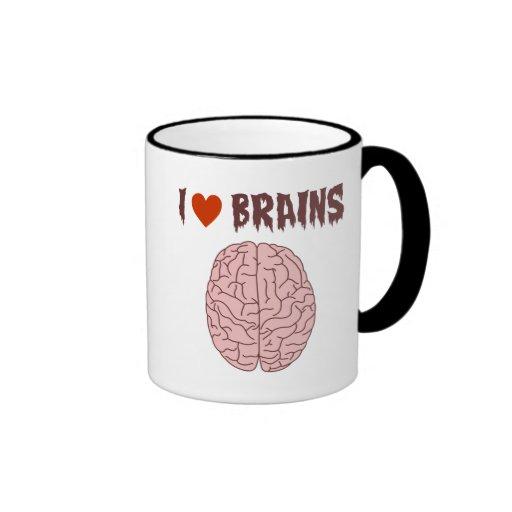 I Love Brains Coffee Mugs