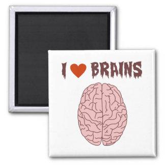 I Love Brains Square Magnet
