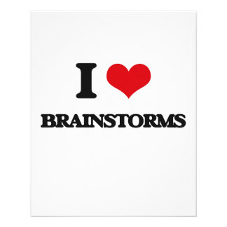 I love Brainstorms 11.5 Cm X 14 Cm Flyer