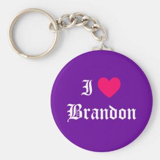 I Love Brandon Key Ring
