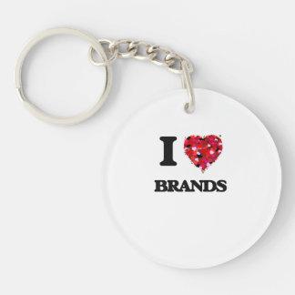 I Love Brands Single-Sided Round Acrylic Key Ring