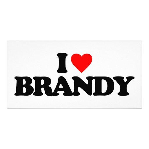 I LOVE BRANDY PHOTO GREETING CARD