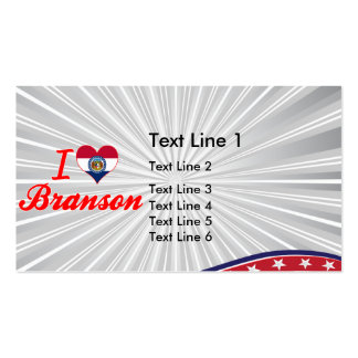 I Love Branson, Missouri Business Card
