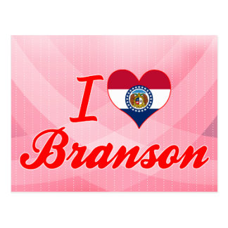 I Love Branson, Missouri Postcard