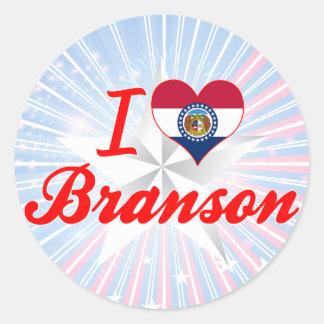 I Love Branson, Missouri Round Stickers