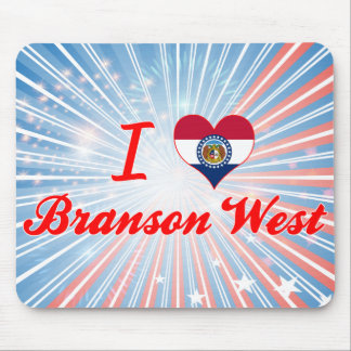 I Love Branson West, Missouri Mouse Pad