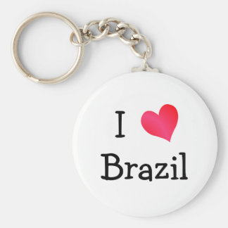 I Love Brazil Key Ring