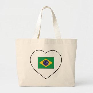 I Love Brazil Large Tote Bag