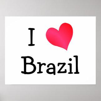 I Love Brazil Poster