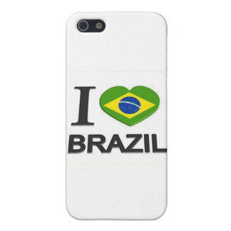 I Love Brazil stuff Case For The iPhone 5