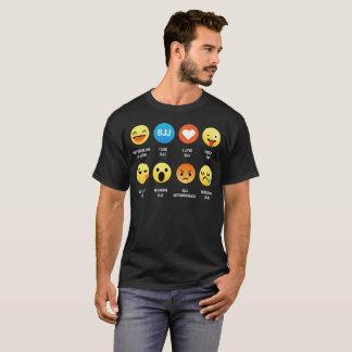 I Love Brazilian Ju Jitsu Emoji Emoticon Shirt